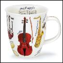 Designertassen - Dunoon - Fine Bone China  : Tasse, Nevis Making Music Cello
