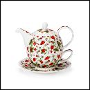 Designertassen - Dunoon - Fine Bone China Teapot  : Tea for one, Dovedale Strawberry